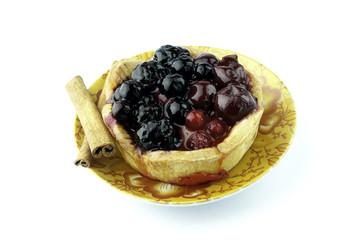 Fruit tart background