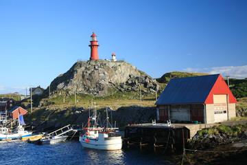 isola di ona norvegia faro del porto