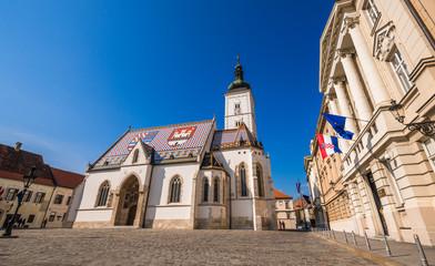 クロアチア 聖マルコ教会 St. Mark's Church, Zagreb