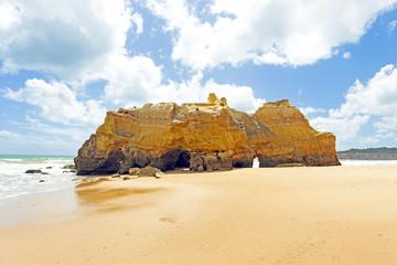 Natural rocks at Praia da Rocha in the Algarve Portugal