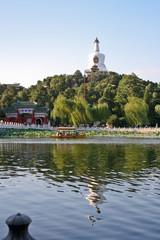 "Park near the ""White Pagoda"" in Beijing. China."