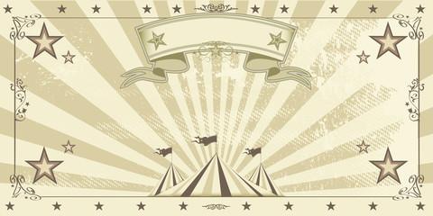 Circus kraft invitation