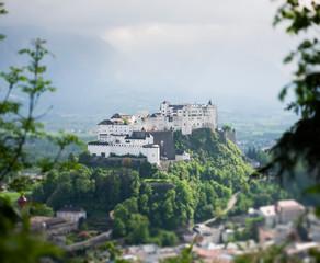 Hohensalzburg Fortress, miniature (tilt-shift) simulation