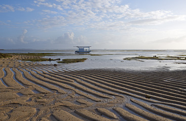 Low tide at the sea shore, Indonesia, Bali