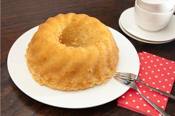 Homemade turban cake