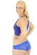 Frau ist schlank nach Diät