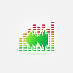 Bright music sound vector icon