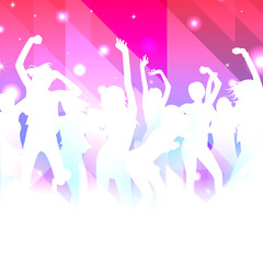 Music Background with dancing girls