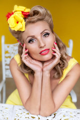 portrait of a beautiful girl, pin up