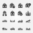 Insurance icons vector set - 71044955