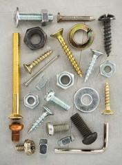 hardware tools at metal background