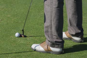 Giocando a golf