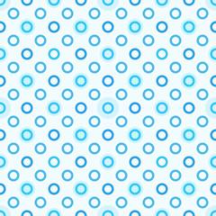 Modern seamless blue polka dot pattern