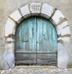 Old blue gate - Laruns, Pyrénées-Atlantiques - France