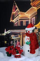 Santa Snowman by Festive House