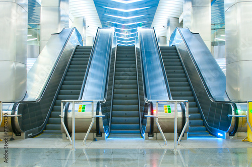 Moving escalator in the subway - 71045730