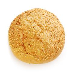 bun with sesame for hamburger