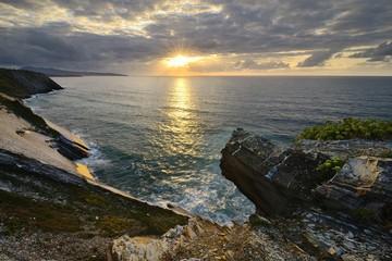 Sunset, Corniche d'Urrugne - Basque Country -France
