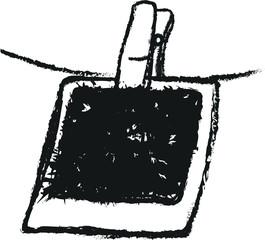 doodle blank polaroid photo