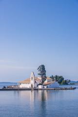 scene of Vlacherna monastery, Kanoni, Corfu