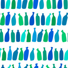 seamless bottles pattern