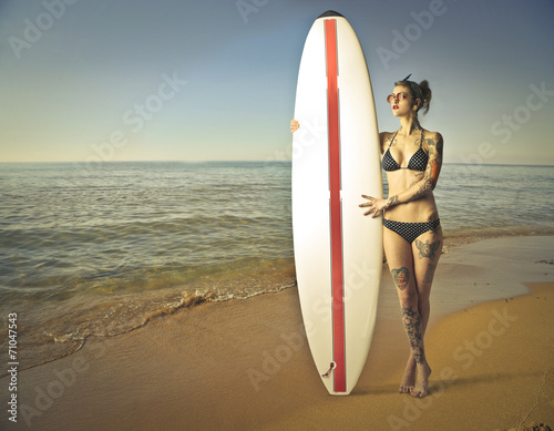 canvas print picture Surfing