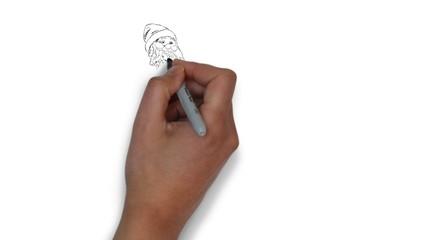 Weihnachtsmann Zeichnung zeichnen Handzeichnung