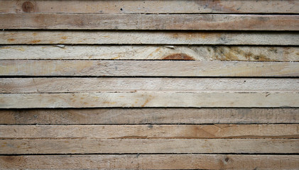 Raw wood, wooden slatted