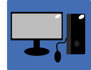 personal computer icon flat