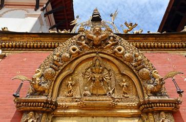 The Golden Gate in the Durbar square. Bhaktapur, Kathmandu Nepal