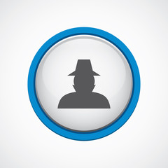 detective glossy with blue stroke icon.
