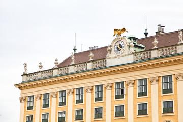 Close up of Schönbrunn Palace in Vienna, Austria