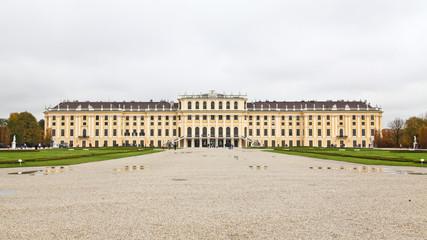 View from garden of Schönbrunn Palace in Vienna, Austria