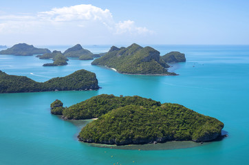 Close up from Top view of Ang Thong National Marine Park, Thaila
