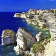 Leinwanddruck Bild - Bonifacio - town on rocks, Corsica