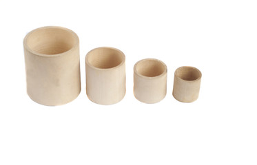 Montessori wooden cups