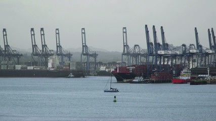 8of19 Panama city harbor, port, docks, cargo
