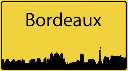 Ortsschild Bordeaux