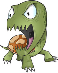 Zombie Turtle Vector Illustration Art