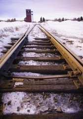 Railway Tracks In Winter