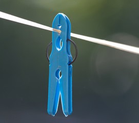 clothespin on a clothesline