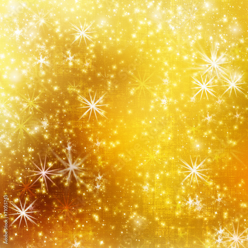 canvas print picture Abstract snowy background with snowflakes, stars and fun confett