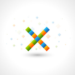 Abstact Logo template like letter X. Color Corporate icon.