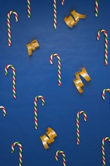 Candy Canes And Gift Wrap