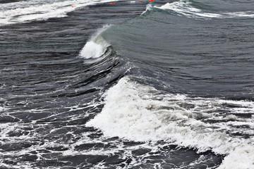 texture of a storm at sea