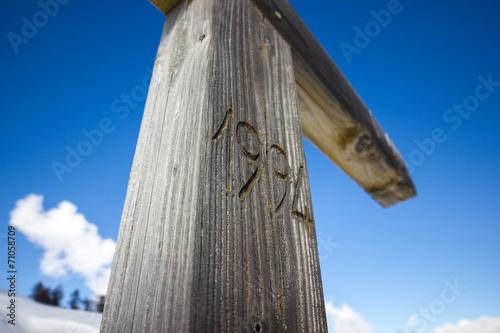 Poster Crocifisso in legno