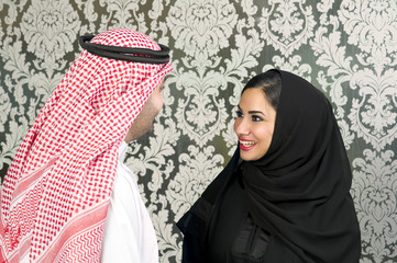 Arabian Couple Posing