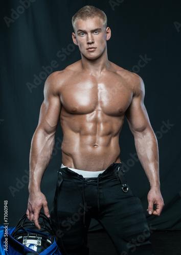 canvas print picture Male bodybuilder Serge Henir