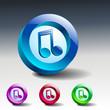 Vector multimedia musical note icon button