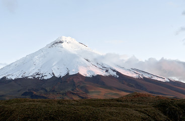 Cotopaxi volcano on the sunset. Andes, Ecuador